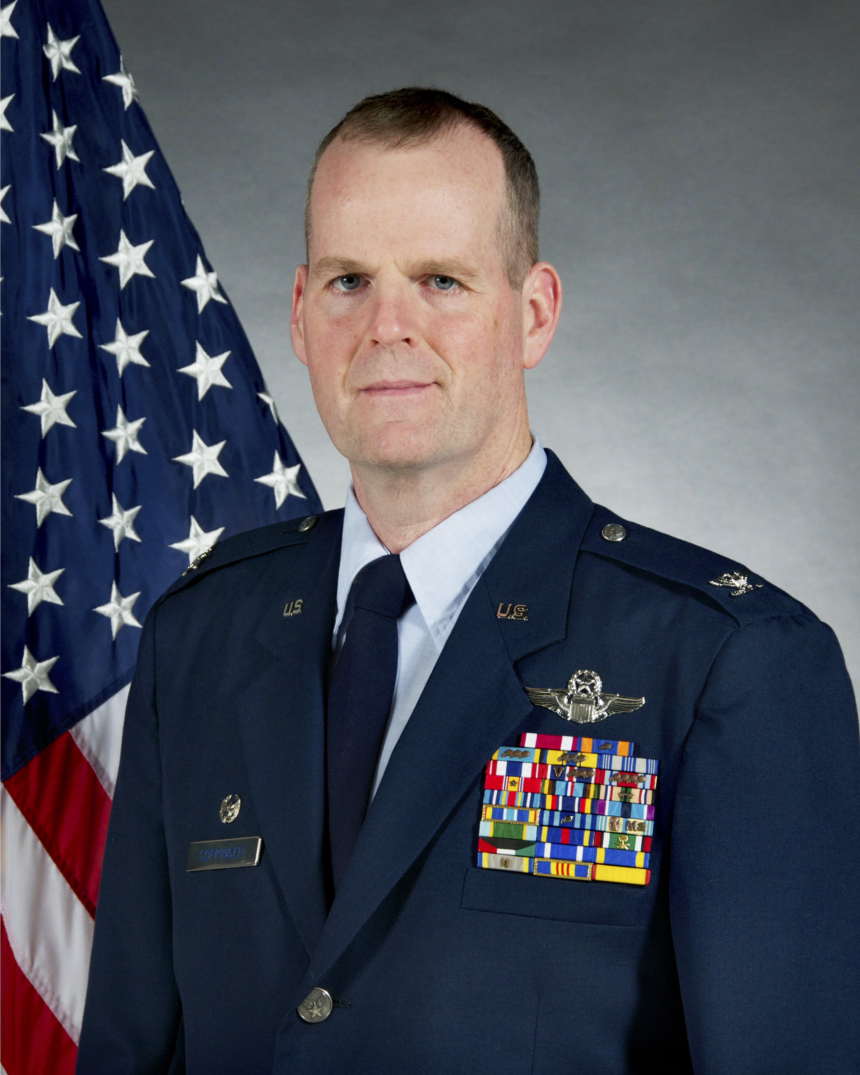 A photo of the Wing Vice Commander Col. Coppinger
